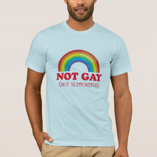 NOT GAY, but supportive T-Shirt