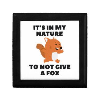 Not Give A Fox Keepsake Box