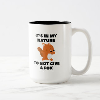 Not Give A Fox Two-Tone Coffee Mug