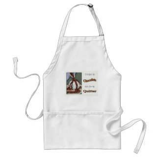 Not Giving Up Chocolate: Funny: Original Art Adult Apron