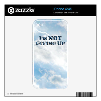 Not Giving Up - Multiple Products Skin For iPhone 4
