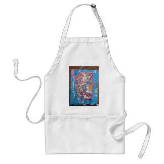 not godlike art by sludge adult apron