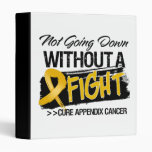 Not Going Down Without a Fight - Appendix Cancer 3 Ring Binders