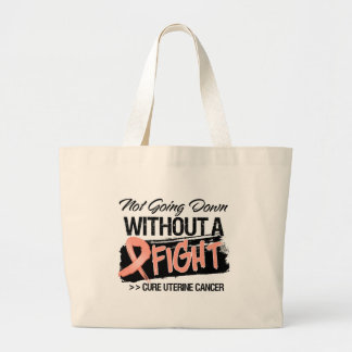 Not Going Down Without a Fight - Uterine Cancer Canvas Bags