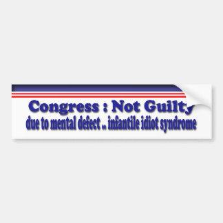 Not Guilty Bumper Sticker