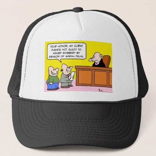 not guilty by reason of sarah palin trucker hat