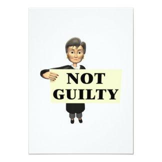 Not Guilty Card