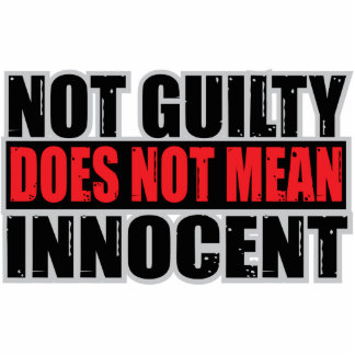 Not Guilty Does Not Mean Innocent Cutout