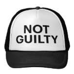 NOT GUILTY fun slogan trucker hat