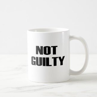 NOT GUILTY CLASSIC WHITE COFFEE MUG