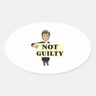 Not Guilty Oval Sticker