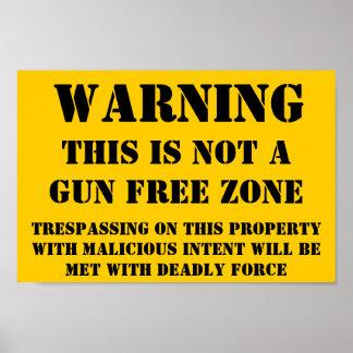 Not Gun Free Poster