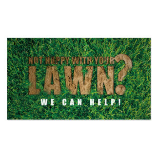 NOT HAPPY WITH YOU LAWN - BUSINESS CARD