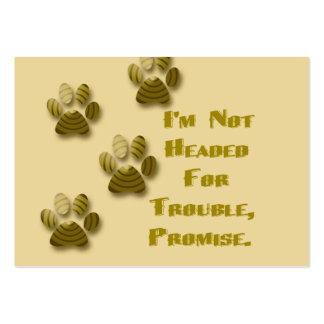 Not Headed for Trouble Mouse Pad Large Business Cards (Pack Of 100)