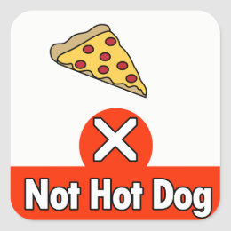 Not Hot Dog Square Sticker