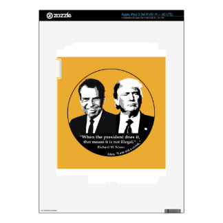 Not Illegal President iPad 3 Decal
