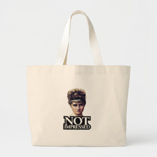 NOT Impressed Large Tote Bag