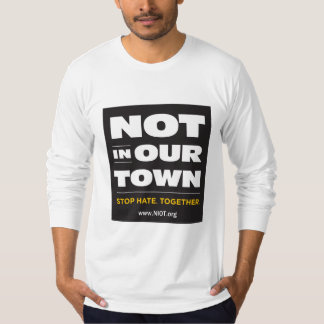 Not In Our Town Long-Sleeved Fitted T-Shirt