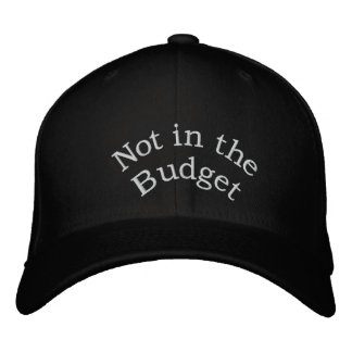 Not in the Budget_ Embroidered Hat_by Elenne Baseball Cap