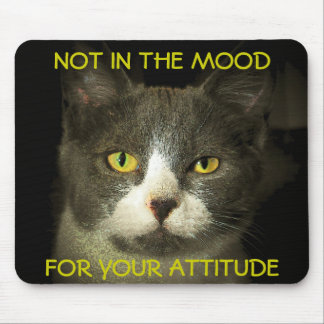 Not in the Mood For Your Attitude Meme Mouse Pad