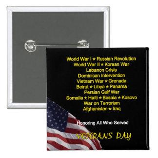 Not In Vain Veterans Day Button
