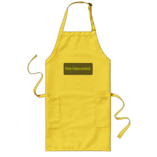 Not Interested Long Apron