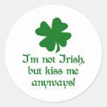 Not Irish Classic Round Sticker