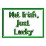 Not Irish, just Lucky...Text Image Business Card Template