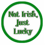Not Irish, just Lucky...Text Image Acrylic Cut Outs