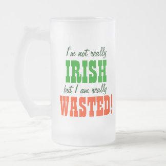 Not irish Just Wasted! Mugs