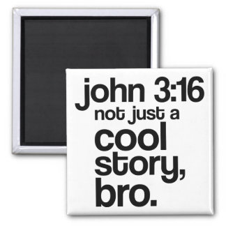 """""""Not Just a Cool Story, Bro"""" Magnet (Dark Text)"""