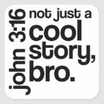 """""""Not Just a Cool Story, Bro"""" Stickers (Dark Text)"""