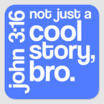 """""""Not Just a Cool Story, Bro"""" Stickers (Light Text)"""