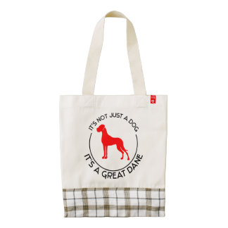 Not just a Dog, a Great DAne Zazzle HEART Tote Bag