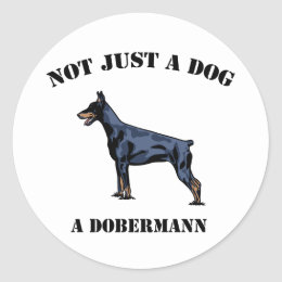 Not Just a Dog Classic Round Sticker