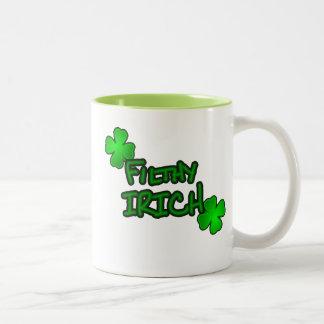 Not Just Irish but Irich Two-Tone Coffee Mug