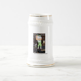 NOT JUST ST PATTY'S DAY 18 OZ BEER STEIN