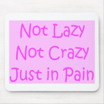 not lazy not crazy mouse pad