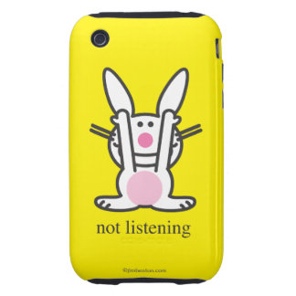 Not Listening Tough iPhone 3 Cover