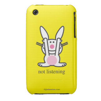 Not Listening iPhone 3 Case-Mate Cases