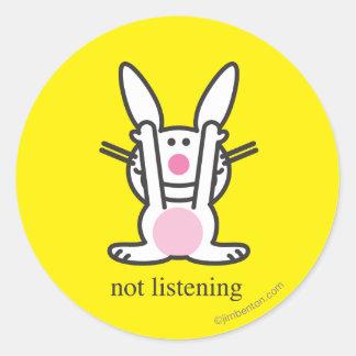 Not Listening Classic Round Sticker