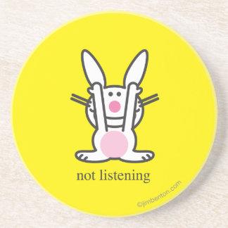 Not Listening Beverage Coaster