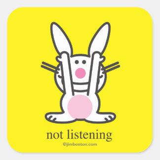 Not Listening Square Sticker