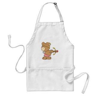 not looking shooting arrow cupid teddy bear adult apron