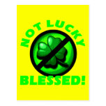 Not Lucky - Blessed! Postcard