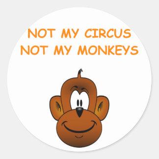 not me round sticker