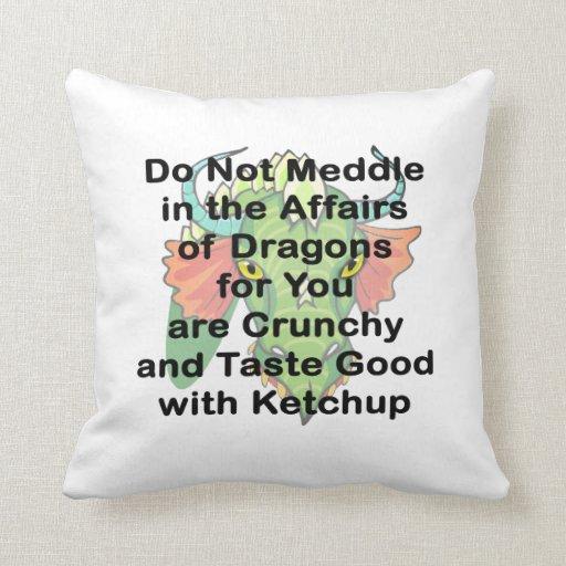 Not meddle black dragon head pillows