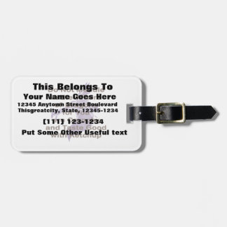 Not Meddle brown Purple dragon Tag For Luggage