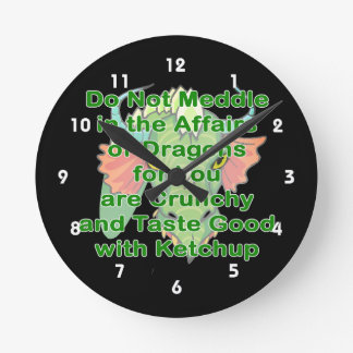 Not meddle green dragon head round clock