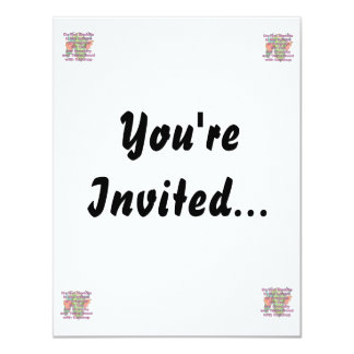 Not meddle pink dragon head 4.25x5.5 paper invitation card